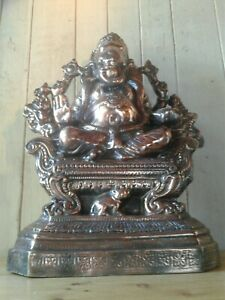 Large Antique Vintage Indian Hindu Copper Plated Lord Ganesh Shrine Idol 60cm