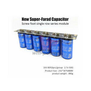 Super Capacitor 2 7v 500f Screw Foot Single Row 16v 83f Farad Capacitor Module