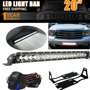 For 2004 2013 Dodge Ram 2500 3500 Bumper Mount Bracket 20 Single Led Light Bar