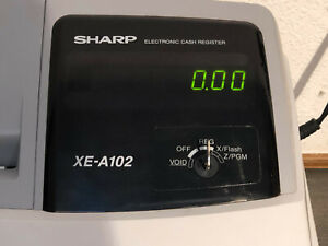 Sharp Xe a102 Electronic Cash Both Keys Included Great Working Condition