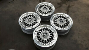 Jdm Bbs Rs Mesh Rs043 Racing 15 Mesh Rims Wheels 114 3x5 For Dc2 Ek9 Z31