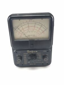 Vintage Simpson Model 260 Analog Volt Ohm Multimeter Meter Untested 3842
