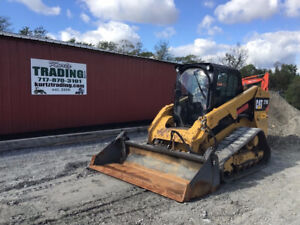 2015 Caterpillar 279d Compact Track Skid Steer Loader W Cab 2 Speed