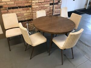 Set Of 6 Mid Century Modern Dining Chairs By Daystrom Furniture W Table