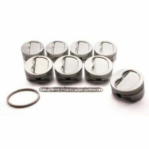 Srp 147549 Forged Dish Pistons 4 155 bore Set Of 8 For Small Block Chevy 350 400