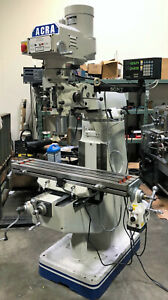Acra Am 2v Bridgeport type Mill With Sony Dro And Power Feed