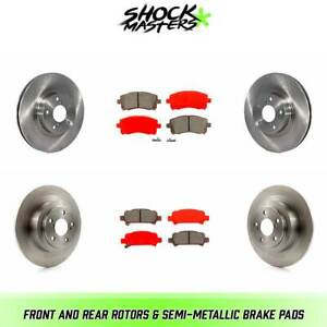 Front Rear Rotors Semi Metallic Brake Pads For 2000 Subaru Outback