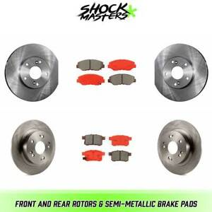 Front Rear Rotors Semi Metallic Brake Pads For 2008 2017 Honda Accord