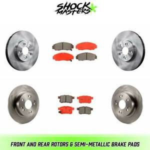 Front Rear Rotors Semi Metallic Brake Pads For 2008 2009 Honda Accord