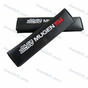 2pcs Mugen Si Car Seat Belt Cover Pads Shoulder Cushion New For Honda Civic Si
