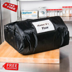 Servit Insulated Pizza Delivery Bag Black Soft sided Heavy duty Nylon 18 X 18