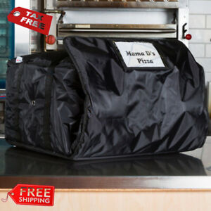 Servit Insulated Pizza Delivery Bag Black Soft sided Heavy duty Nylon 20 X 20