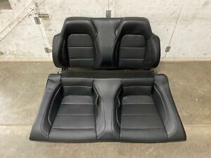 2018 2019 Mustang Gt Convertible Rear Seats Black Leather white Stitching Oem