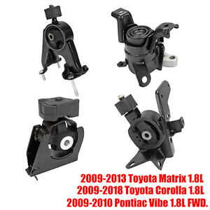 Engine Motor Trans Mount Set 4x Fit 09 18 Corolla Matrix 09 10 Pontiac Vibe 1 8l