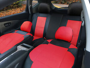 Car Seat Covers Leather Cushion Front Rear 2 Pillows To Kia 53255 Bk red