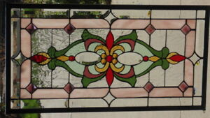 Stained Glass Transom Window Hanging 30 1 2 X 16 1 2