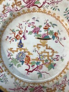 Help Identify Antique Stamped Marked Crown Old Chinese Porcelain Export Plate
