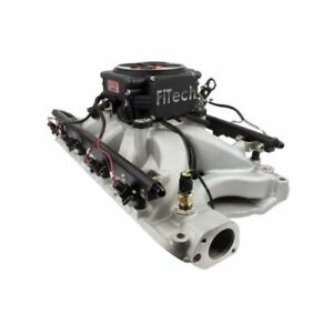 Fitech 32858 Go Port Efi Fuel Injection System Satin Black For Ford Small Block