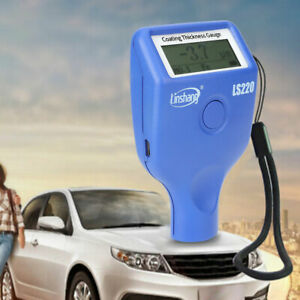 Ls220 Lcd Digital Car Paint Coating Thickness Probe Tester Gauge