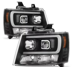 2007 2014 Chevy Tahoe Led Projector Headlights Ships Worldwide