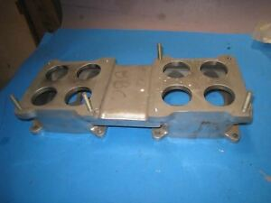 Edelbrock Intake Manifold Plenum Divider Adapter Top Plate Dual Quad Bbc 52g4