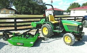 John Deere 4100 Tractor rototiller brush Hog Package shipping 1 85 Mile
