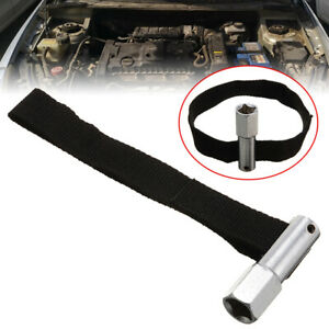 Universal 1 2 Drive Socket Oil Filter Remover Nylon Strap Wrench Tool Us New