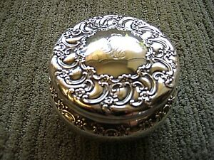 Tiffany And Company Sterling Covered Powder Dish