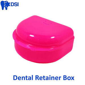 Dsi Dental Orthodontic Retainer Denture Storage Case Box Mouth Guard Container
