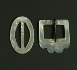 Antique Victorian Vintage Mother Of Pearl Buckles Lot