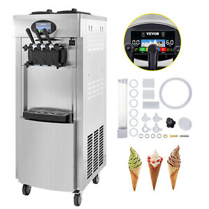 2200w Commercial Soft Ice Cream Machine 3 Flavors 7l 2 304 Stainless Portable