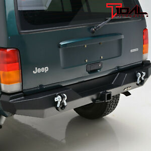 Tidal Fit For 84 01 Jeep Cherokee Xj Off road Rear Bumper W hitch Receiver