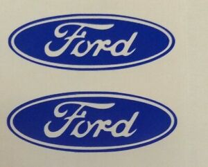 Set 2 2 Ford Center Cap Wheel Rim Logo Aftermarket Vinyl Decal Sticker