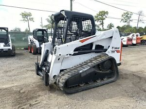 2015 Bobcat T630 Skid Steer Rubber Tracks Quick Attach Aux Hydraulics