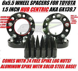 6x5 5 Hubcentric 1 5 Inch Wheel Spacers For Toyota 4runner Tacoma Plus Spike Lug