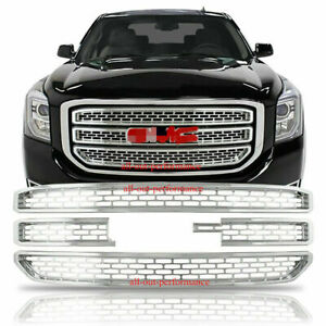 2015 2020 Gmc Yukon Xl Chrome Snap On Grille Overlay Grill Covers Inserts