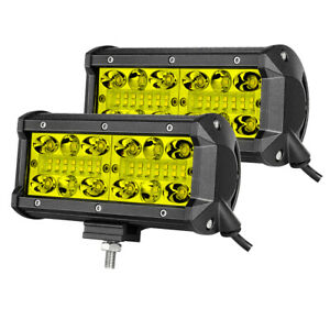 Wiring Kit 2x 7 400w Led Work Light Bar Flood Spot 3000k Offroad Driving Fog