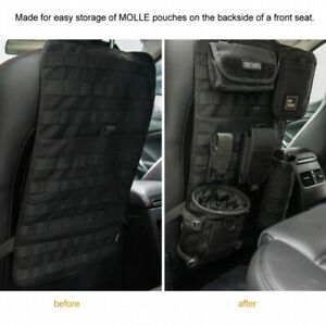 Tactical Car Seat Back Organizer Cover Storage Bag Molle Vehicle Panel