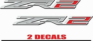 14 19 Chevy Colorado Zr2 Decals Set Truck Bed Side Stickers 15 16 17 18 Emblems