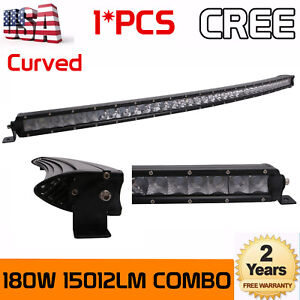 37inch Curved Led Light Bar 180w Offroad Slim Single Rows F Combo Truck Vs 38 40