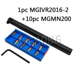 Mgivr2016 2 Lathe Grooving Cut off Tool Holder Boring Bar For Mgmn200 Cnc Blade