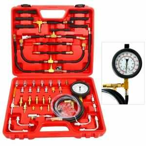 0 140psi Oil Fuel Injection Pump Pressure Tester Gauge Injector Detector Kit New