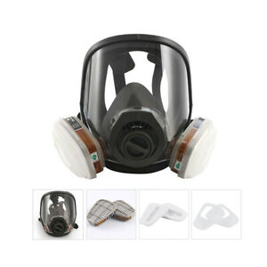 Full Face Gas Mask Goggles Respirator Chemical Dust Smoke Paint Protector V3y2