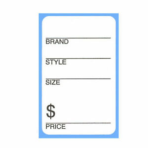 Self Adhesive Shoe Labels Brand Style Size Price Sticker Rolls