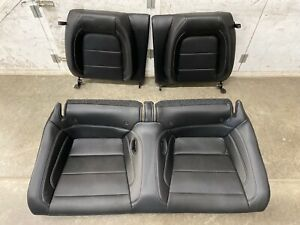 2018 2019 Mustang Gt Coupe Rear Seats Black Leather white Stitching Oem