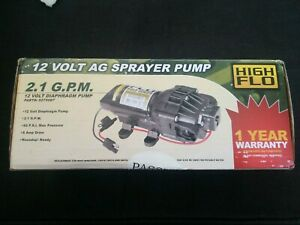 Fimco 5275087 High Flo 12 Volt Diaphragm Sprayer Pump 60 Psi Max 2 1 Gpm 8 Amps