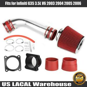 For Infiniti G35 3 5l V6 2003 2004 2005 2006 Air Intake System Kit Filter Red