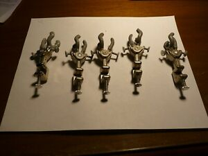 5 Vintage Precision Cast Alloy Lab Stand Clamps For Glassware Support Test Tubes