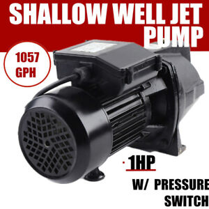 1 Hp Jet Water Pump 750w Shallow Well W Pressure Switch 12 5gpm Self Priming