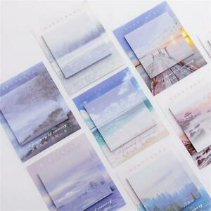 Creative Scenery Series Sticky Notes N Times Memo Pad Planner Sticker Bookmark